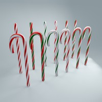 3d model candy canes pack
