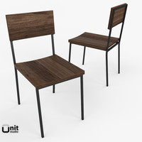 rustic dining chair west 3d max