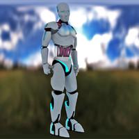 3d robot humanoid