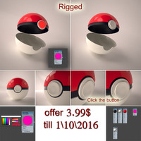 3d model pokemon ball rigged