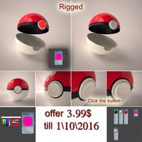 3d model pokemon ball rigged