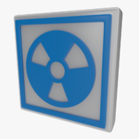 icon warning sign 3d obj
