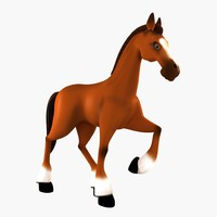 cartoon character horse animation 3d max