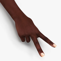 female hand african american 3d model