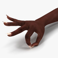 female hand african american 3d max