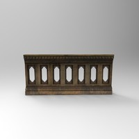 stone railing 3d model