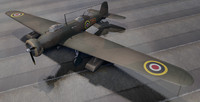 rare vickers wellesley mk-1 3d 3ds