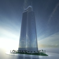 building dubai towers - 3d max