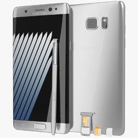 Samsung Galaxy Note 7 Silver Titanium with SIM/SD Card Tray & S Pen