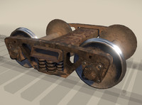 carriage rail railway 3d model
