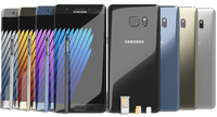 Samsung Galaxy Note 7 All Colors with SIM/SD Card Tray & S Pen