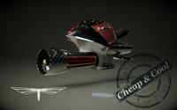 3d hover bike model