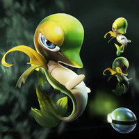 max snivy pokemon