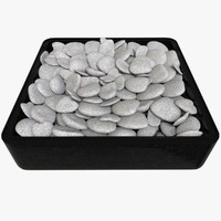 3d model pebbles rock tray