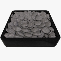 3ds pebbles rock tray