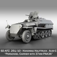 sd kfz 10 ausf 3d model