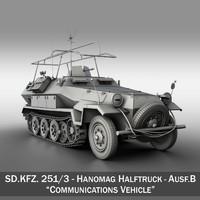 3d model of sd kfz 251 3