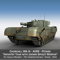 3d british churchill mk iii