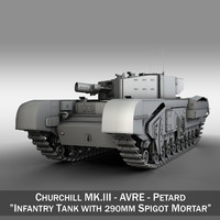 british churchill mk iii 3d model