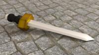 3d obj sword