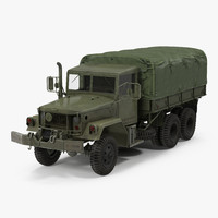 3d model military cargo truck m35a2