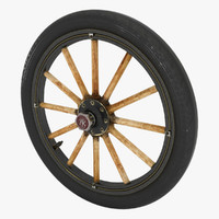 old wheel car 3d model