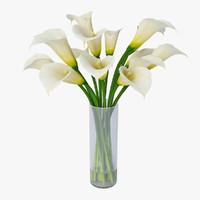 max white calla lilies