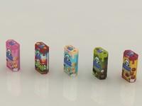 meiji hello panda snack 3d model