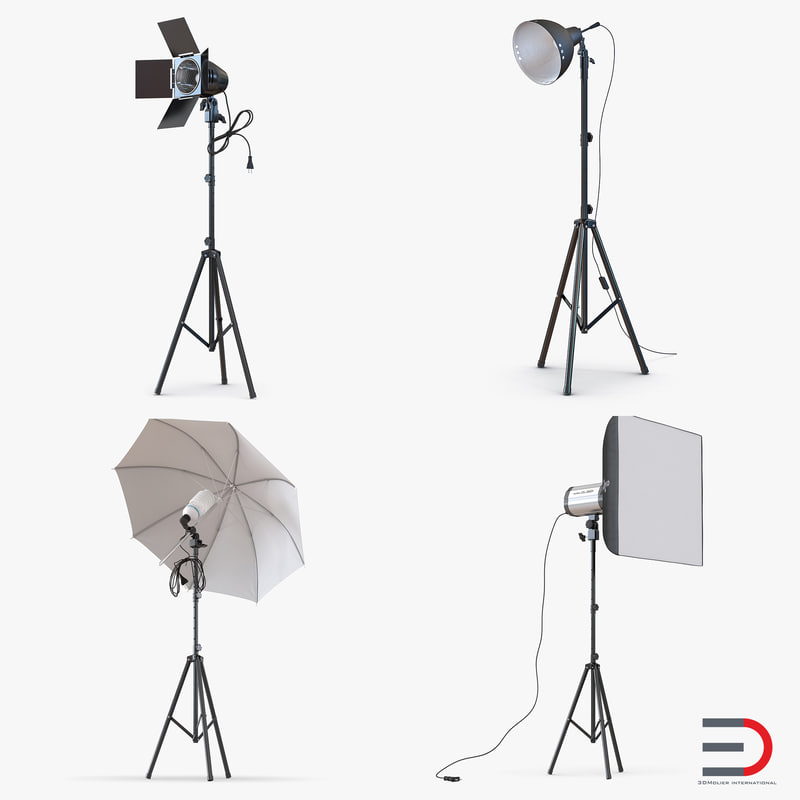 Photo Studio Lamps Collection vray 3d models 00.jpg