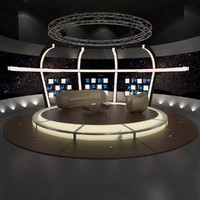 virtual tv chat set 3d max