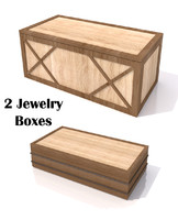 3d model wood jewelry boxes
