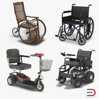 3d model wheelchairs electric powered