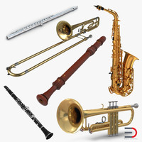 3d model woodwind instruments