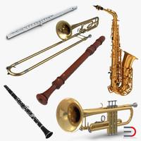 3d model woodwind instruments