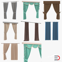 curtains set design 3ds