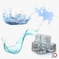 3d model water ice cube