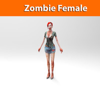 3d max zombie female character