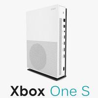 3d model xbox s console