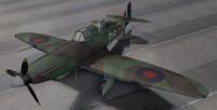 3d 3ds rare boulton paul defiant