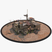 3d old pueblo house model