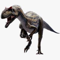 3d rigged allosaurus