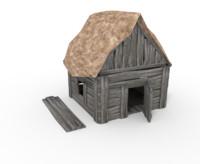 3d model medieval old house