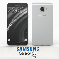 3d samsung galaxy c5 gray model