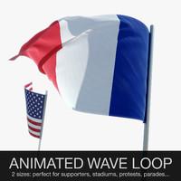 waving flag animations max
