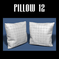 pillow interior 3d obj