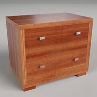 pbr uv-textured bedside table fbx