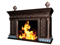 3d fireplace sample model