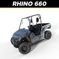 yamaha rhino 660 3d model