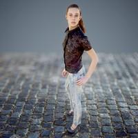 3d girl jeans model