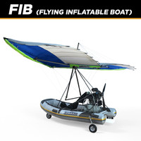 3d polaris flying inflatable boat